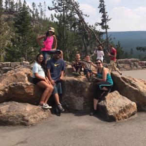 Family at Yellowstone 2