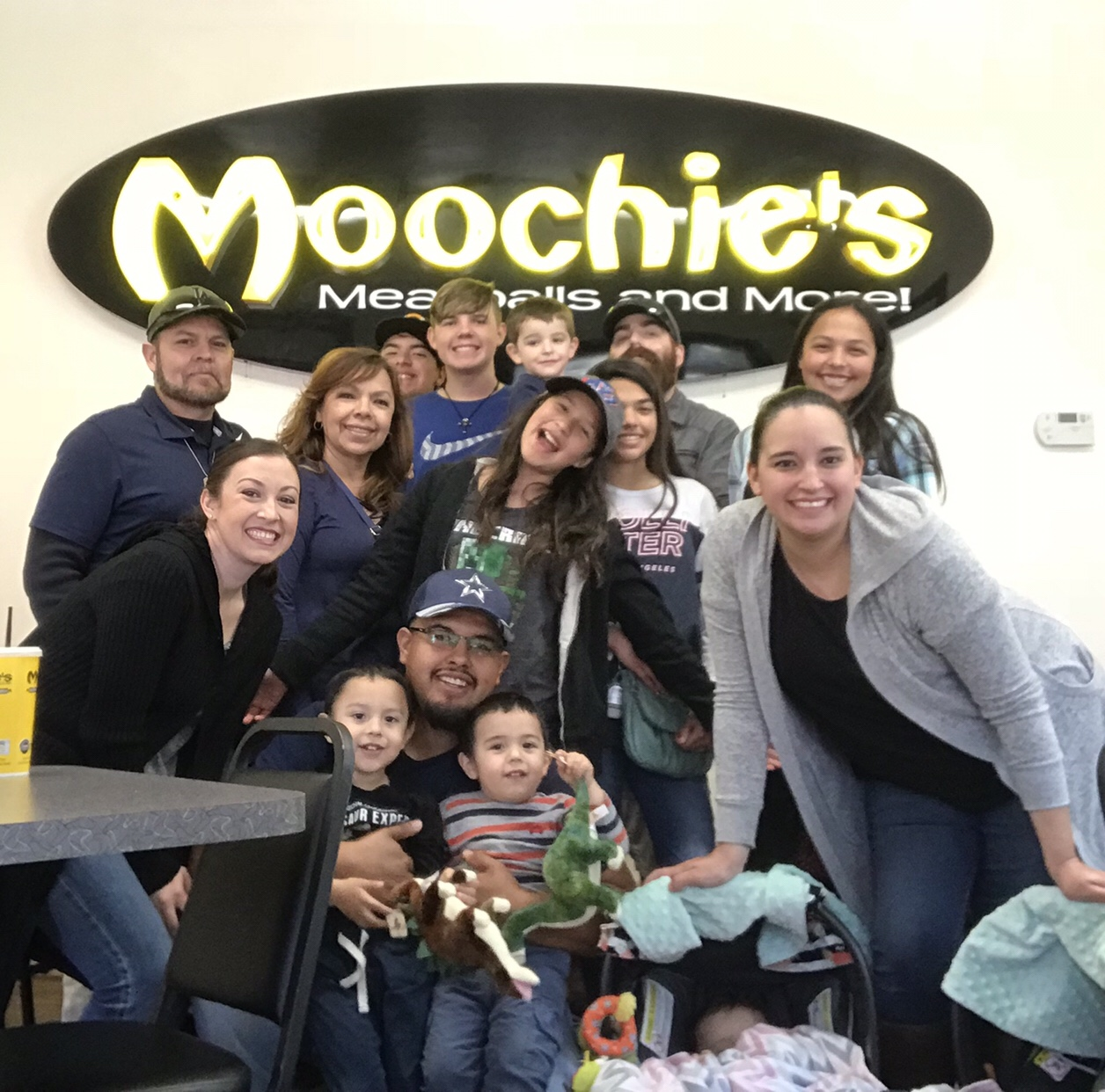 family at Moochie's