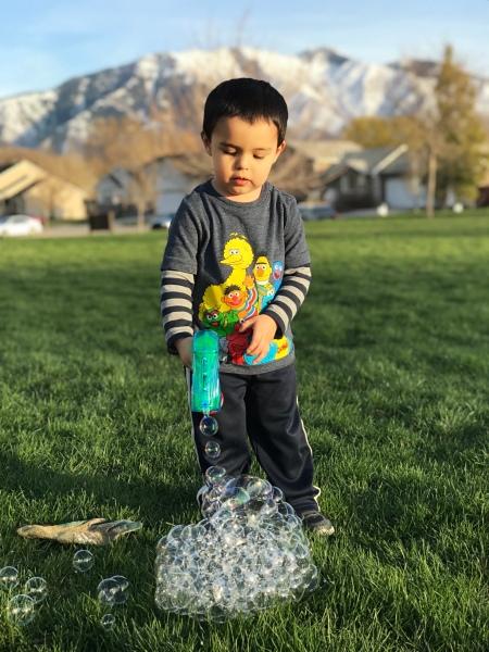 Bubble Gun Bubble Mound